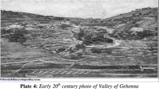 th Plate 4: Early 20 century photo of Valley of Gehenna