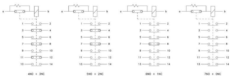 Kg. Approx Connection diagram and Contact configuratio n Fig. 1 - Relay PQ8nCH2J Fig. 2 -
