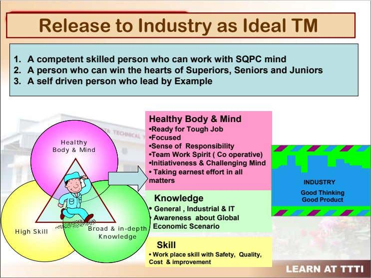 Release to Industry as Ideal TM 1. A competent skilled person who can work with