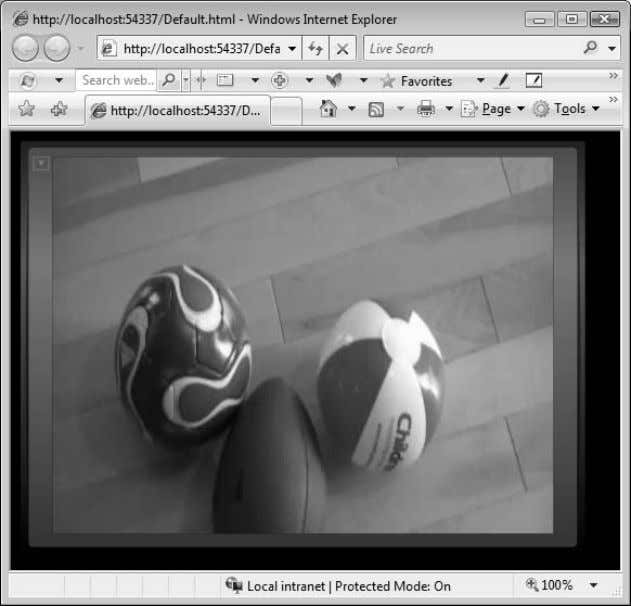 an example of a Silverlight media player in Figure 1-11. FIGURE 1-11 Media player generated by