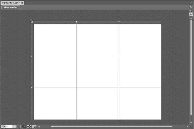 displays a 3 × 3 layout grid, as shown in Figure 2-14. FIGURE 2-14 The 3