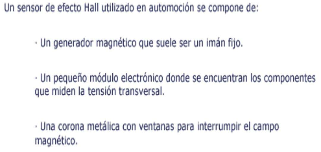 EFECTO HALL Service Department - CET GM Colmotores