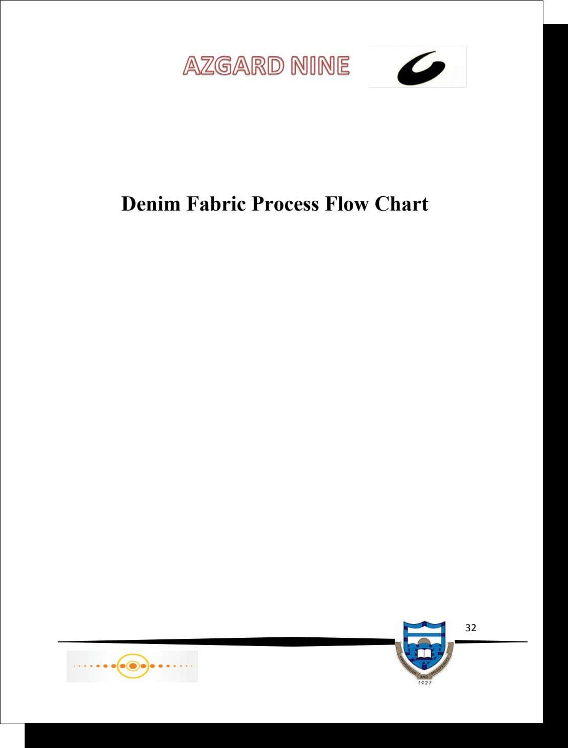 Denim Fabric Process Flow Chart 32