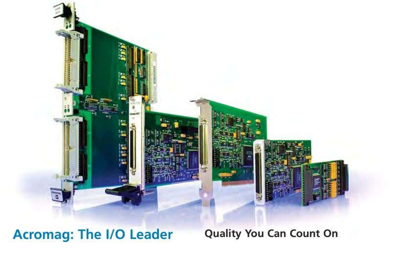 Acromag: The I/O Leader Quality You Can Count On