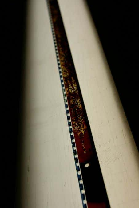 seem to complement each other if they are different looking. Figure 1.8 A film strip from