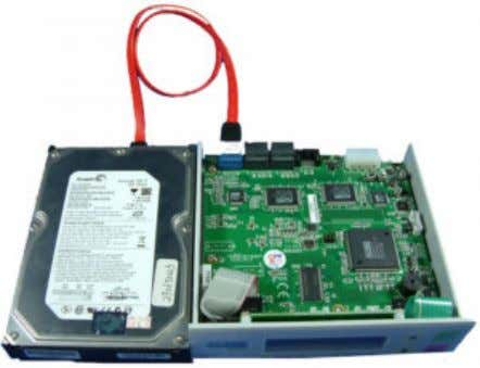 power. Installation Procedure 1. Connect the source HDD with the SATA cable to the CN5 (UP)