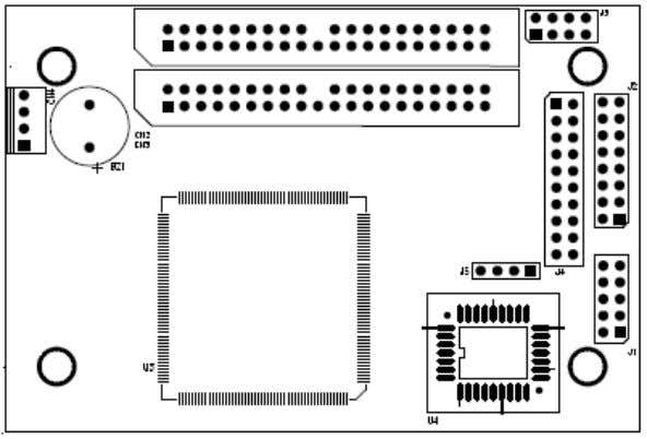4 Board Layout The board layout of ARS-2022NF is shown as follows. The board layout of