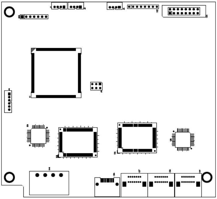 Manual The board layout of ARS-2051F is shown as follows. The board layout of ARS-2055PF is