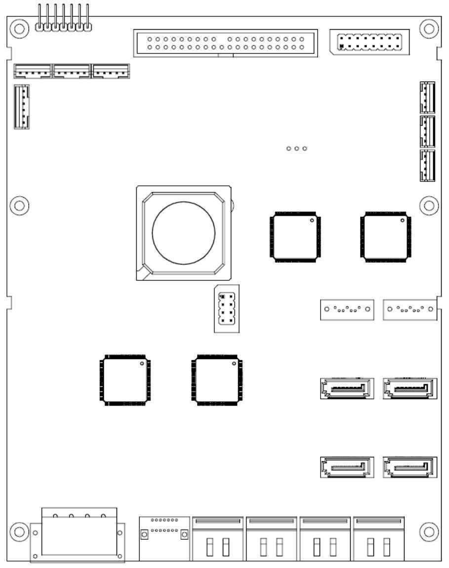 HDD Duplicate Controller Manual The board layout of ARS-2061F is shown as follows. 21