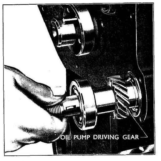 lead. Fig. 37 Replacing Auxiliary Drive Shaft Oil Seal Fig. 38 Replacing Auxiliary Drive Shaft 2