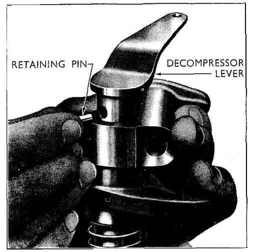 rocker levers inclined towards each other at the valve end. Fig. 3 Decompressor Lever 3 Complete