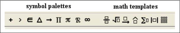 The icons on this toolbar are divided into two sections: the nine icons on the left