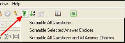 When you transfer questions from the testbank to a test, the test questions contain the same