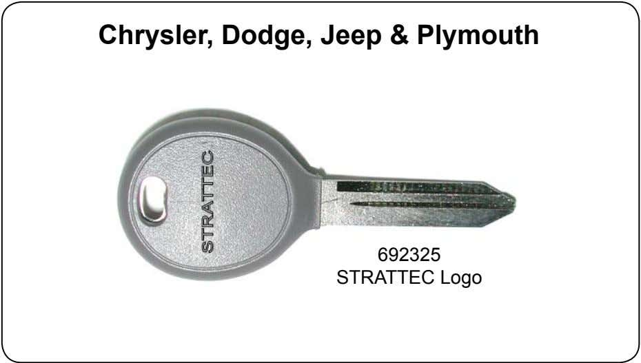 Chrysler, Dodge, Jeep & Plymouth 692325 STRATTEC Logo