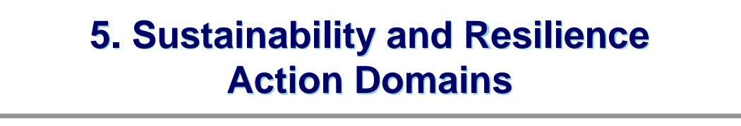 5. Sustainability and Resilience Action Domains