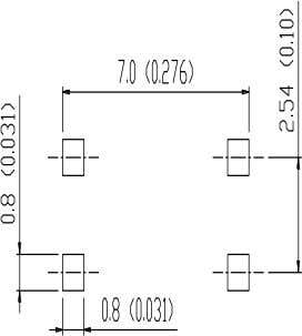 0.028 HE 6.65 6.95 0.262 0.274 Mounting pad layout in mm(inch) www.goodark.com 3/4 2016.09-Rev.B