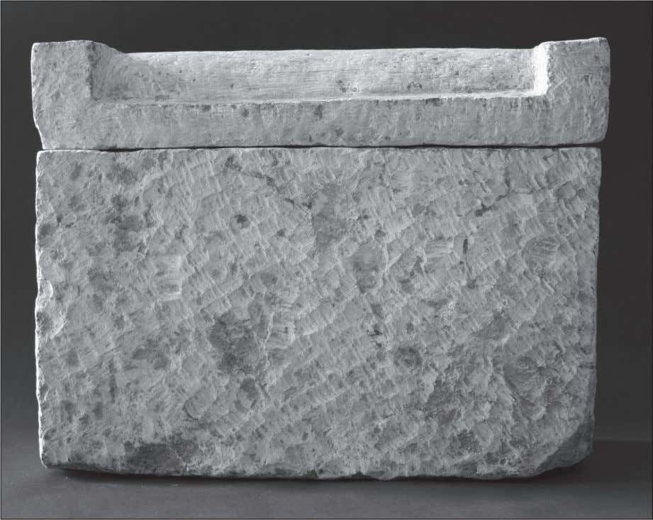 Wegner Fig. 8: The limestone model sarcophagus of Nemtyemweskhet (Garstang Museum, University of Liverpool, object E.712.