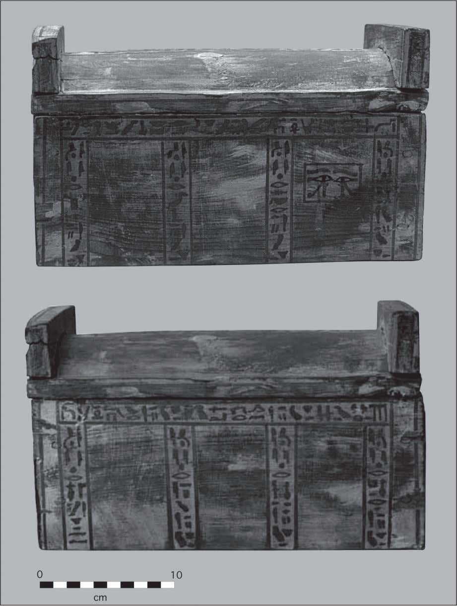 Fig. 9: The wooden coffinette of Nemtyemweskhet (World Museum, Liverpool, object 55.82.114. Photograph courtesy of