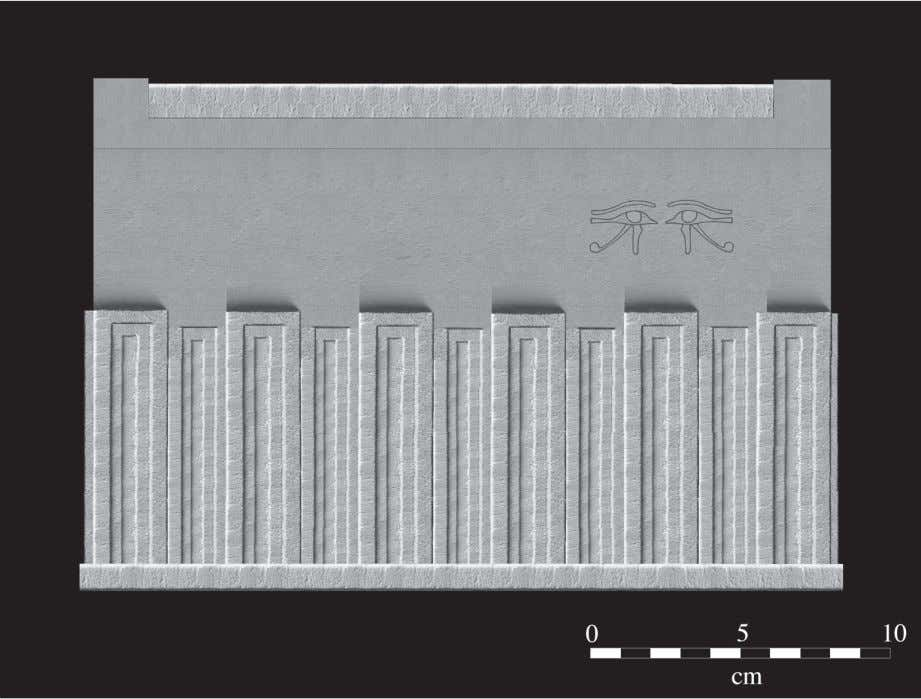 Wegner Fig. 6: A photographic reconstruction of the larger South Abydos model sarcophagus (Model 1). The