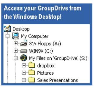 Desktop Client Access Desktop Client Access You can access your GroupDrive from anywhere, anytime, using a