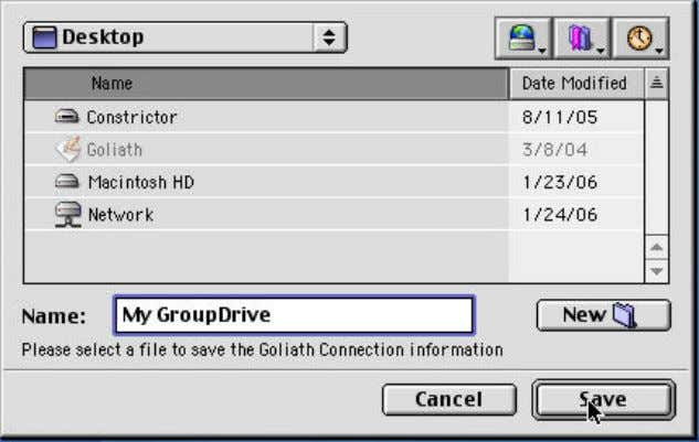 4. Click OK to connect to your GroupDrive. Desktop Client Access 5. You can browse your