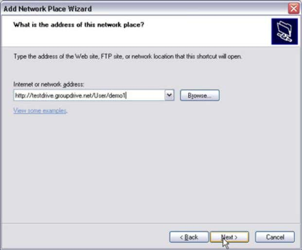 Desktop Client Access 3. The Add Network Place wizard will launch. Wh en prompted, enter the