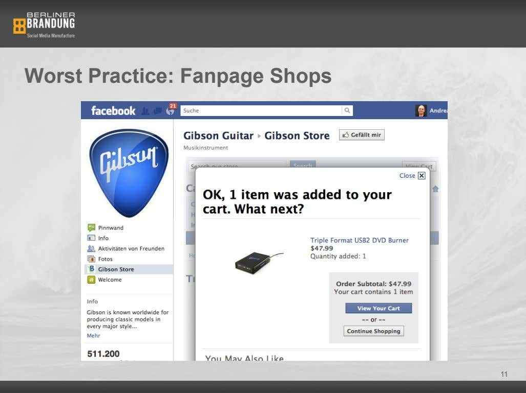 Worst Practice: Fanpage Shops 11