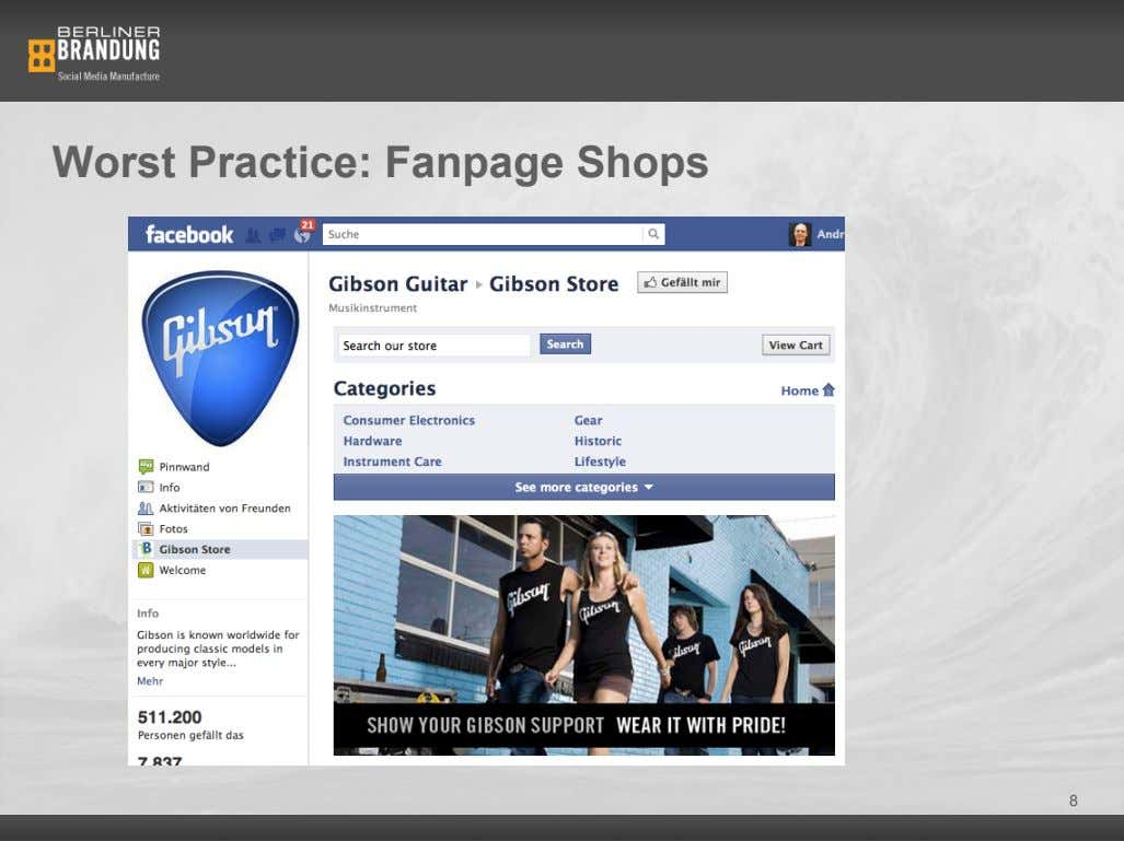 Worst Practice: Fanpage Shops 8