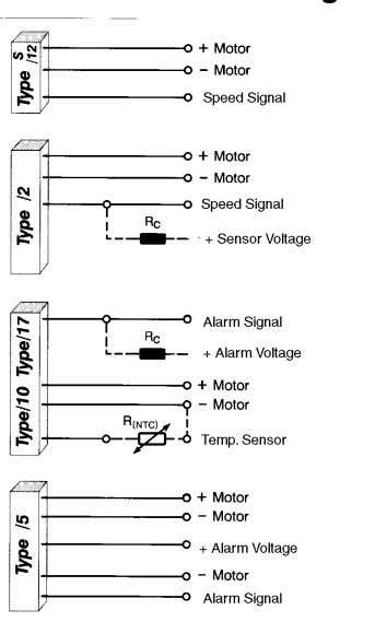 separated with a separate current supply. /17: Direct current supply via motor; the switching circuit is