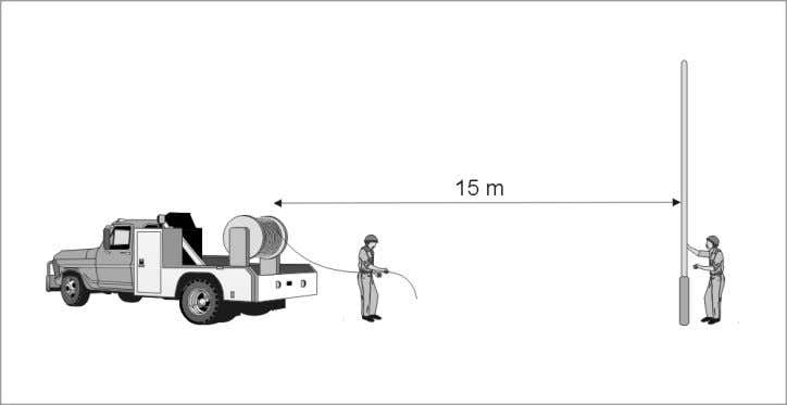 to pay out additional length as the cable is lifted. Figure 10. Moving drum installation set