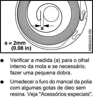 a a = 2mm (0.08 in) N Verificar a medida (a) para o olhal interno