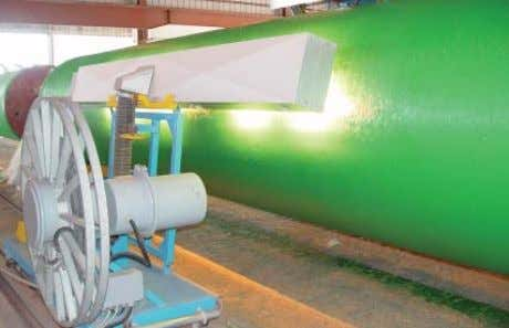 of cement-mortar coating Steam curing of cement-mortar coating Fiberglass coating process Curing of Fiberglass coating