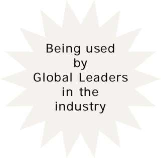 Being used by Global Leaders in the industry