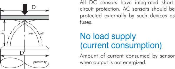 All DC sensors have integrated short- circuit protection. AC sensors should be protected externally by