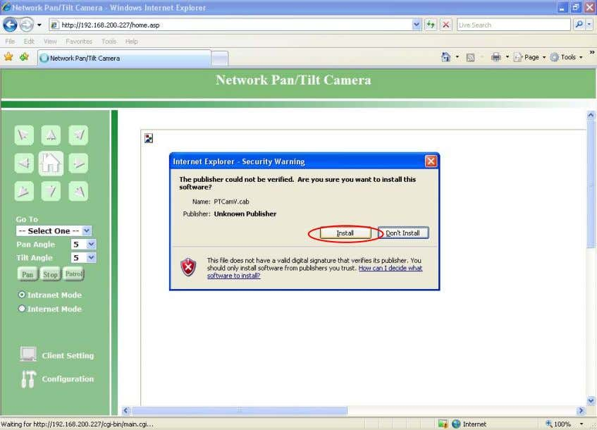 Network Camera User's Manual (2) The default Administrator's password is blank and the Network Camera initially