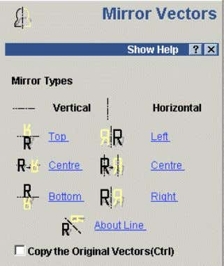 Select the new Vector and select the Mirror Command. The mirror form appears in the assistant.
