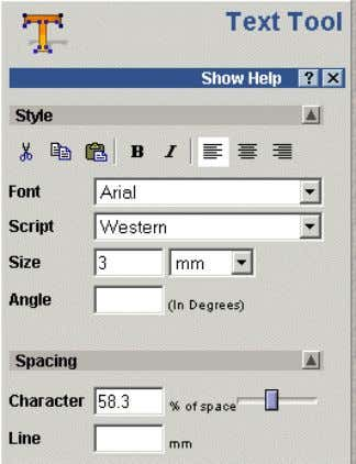 2. Generating Vectors • Select the icon Vector Text . Any additional fonts loaded onto the