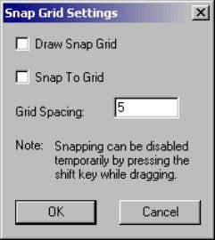 Select Bitmaps  Views  Snap Grid settings … The grid spacing can be set at