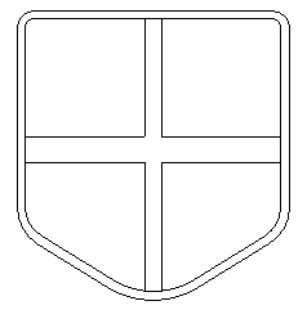 original polylines . • Select trim vector the shield. and cut the polylines to make a