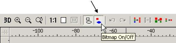 from Examples2. • Select the bitmap on/off command. This turns the bitmap colour off so that