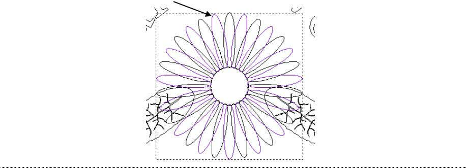• Select the petal to the left of the highest petal to select the lower group.