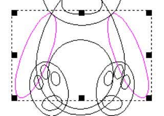 0.5 and press Merge High. • Select the arm vectors . The inner ears have been