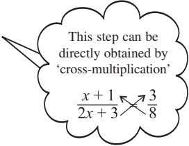 This step can be directly obtained by 'cross-multiplication'