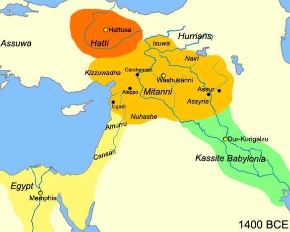 Mitanni Mitanni 2 Map of the near east circa 1400 BCE showing the Kingdom of Mitanni