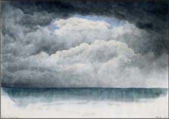de l'artiste NO W HERE, 1979 Collection de l'artiste LOCH IN DEN WOLKEN [Trou dans les