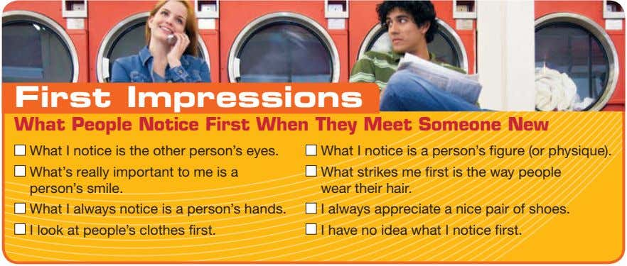 First Impressions What People Notice First When They Meet Someone New What I notice is
