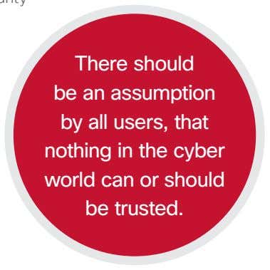 There should be an assumption by all users, that nothing in the cyber world can