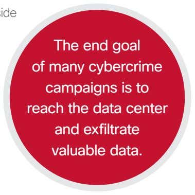 The end goal of many cybercrime campaigns is to reach the data center and exfiltrate