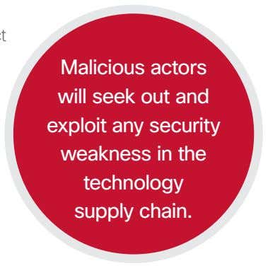 Malicious actors will seek out and exploit any security weakness in the technology supply chain.