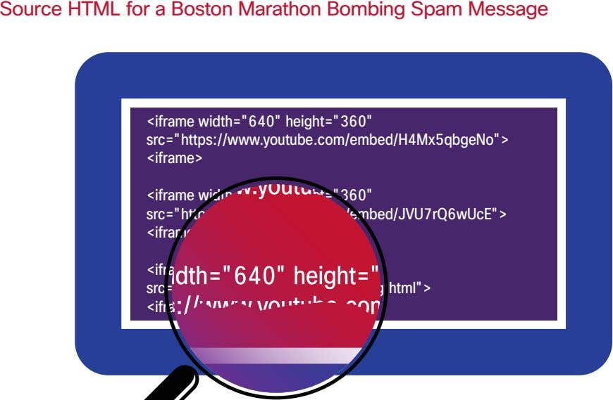 "Source HTML for a Boston Marathon Bombing Spam Message <iframe width=""640"" height=""360"""